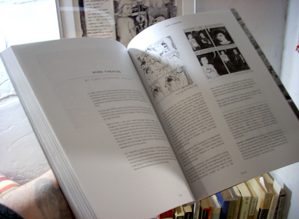 Photo of Graphics Underground book, open to essay