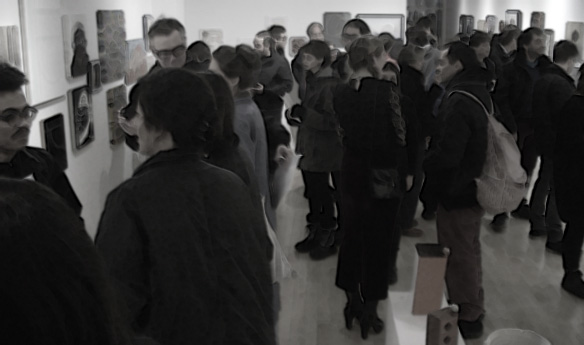 people attending the Forest City Gallery opening
